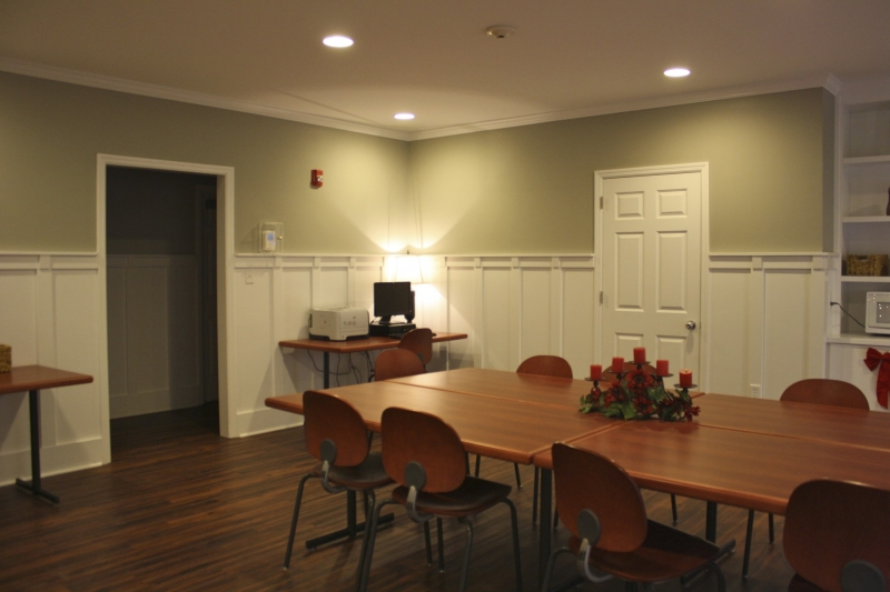 Dining area at Hepper Hall