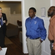 Business leaders touring Hepper Cottage