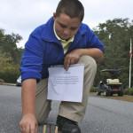 Middle school testing their solar cars